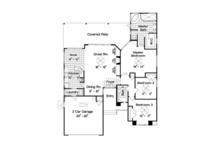 Ranch Floor Plan - Main Floor Plan Plan #417-800