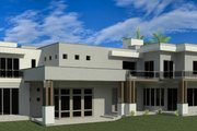 Modern Style House Plan - 6 Beds 7 Baths 8488 Sq/Ft Plan #920-71 Exterior - Rear Elevation