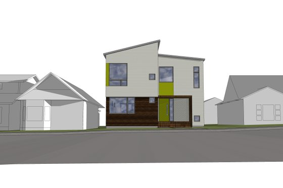 Contemporary Exterior - Front Elevation Plan #909-9