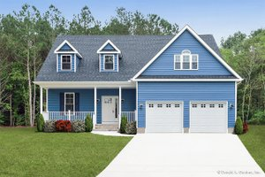 Country Exterior - Front Elevation Plan #929-52