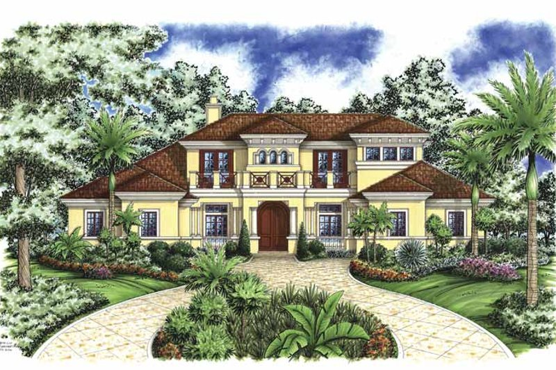 Mediterranean Exterior - Front Elevation Plan #1017-70