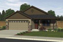 Craftsman Exterior - Front Elevation Plan #943-1