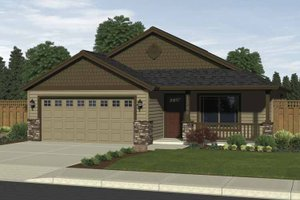 Craftsman Exterior - Front Elevation Plan #943-1