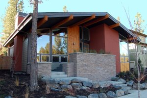Modern Exterior - Front Elevation Plan #895-23