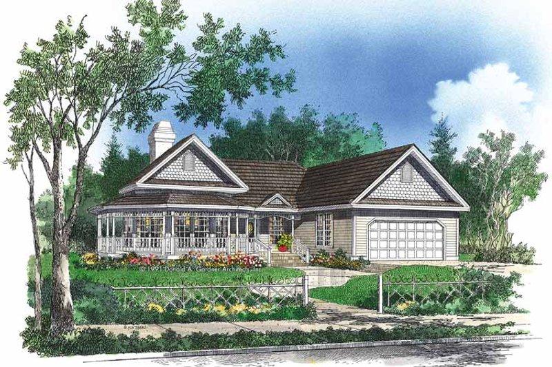 Victorian Exterior - Front Elevation Plan #929-91 - Houseplans.com