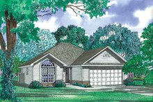 Ranch Exterior - Front Elevation Plan #17-2975
