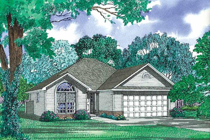 Dream House Plan - Ranch Exterior - Front Elevation Plan #17-2975