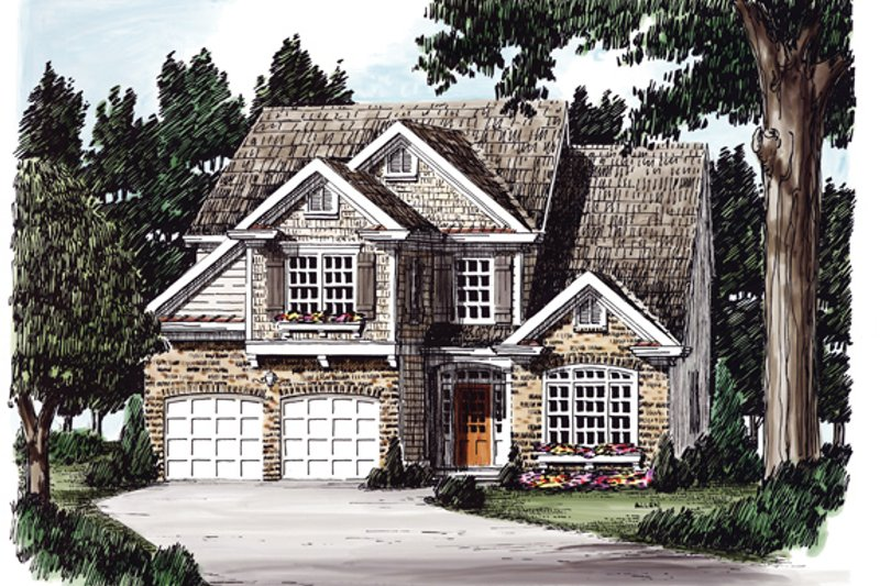 Traditional Exterior - Front Elevation Plan #927-579 - Houseplans.com