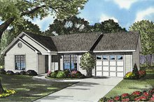 Home Plan - Country Exterior - Front Elevation Plan #17-3162