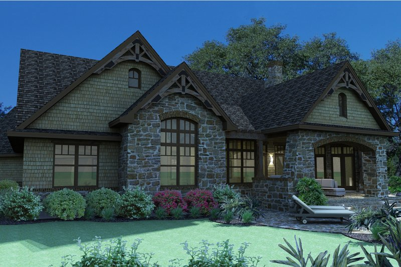 Craftsman Exterior - Rear Elevation Plan #120-165 - Houseplans.com