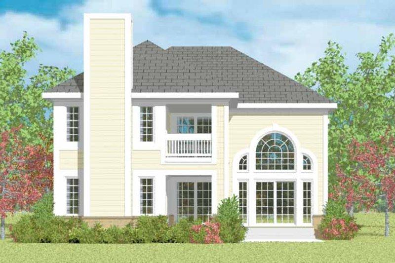 House Blueprint - Traditional Exterior - Rear Elevation Plan #72-1095