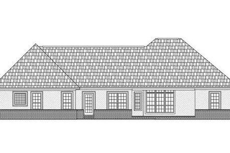Traditional Exterior - Rear Elevation Plan #21-252 - Houseplans.com