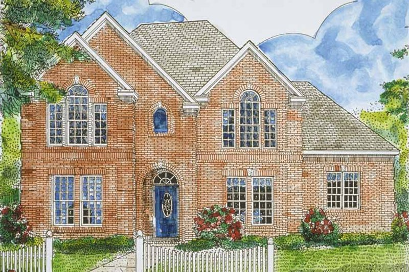 Country Exterior - Front Elevation Plan #968-29