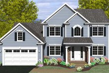Architectural House Design - Colonial Exterior - Front Elevation Plan #1010-73