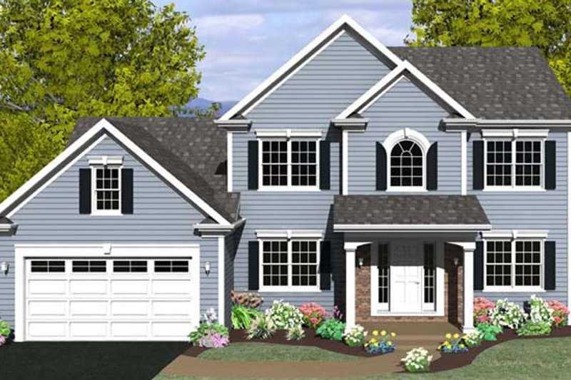 Colonial Exterior - Front Elevation Plan #1010-73