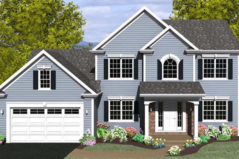 Colonial Exterior - Front Elevation Plan #1010-73 - Houseplans.com