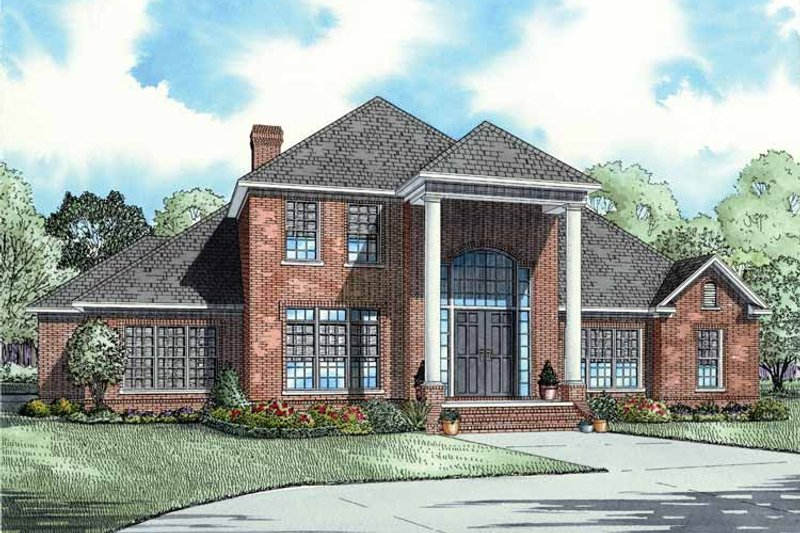 Classical Exterior - Front Elevation Plan #17-2684