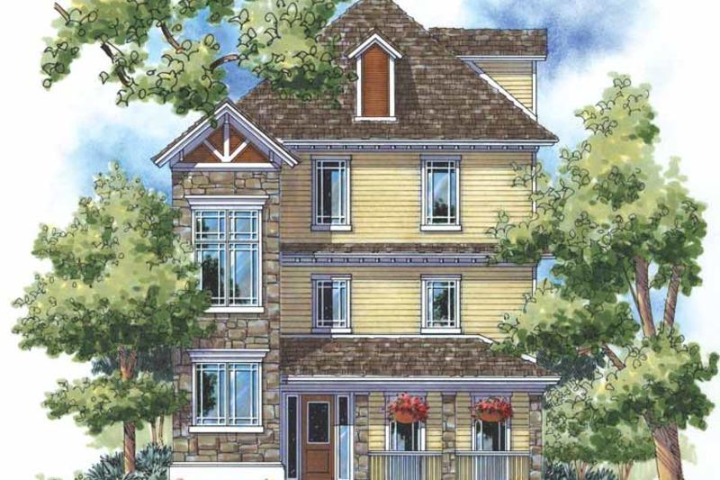 Craftsman Exterior - Front Elevation Plan #930-169