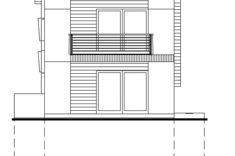 Traditional Exterior - Rear Elevation Plan #484-13 - Houseplans.com