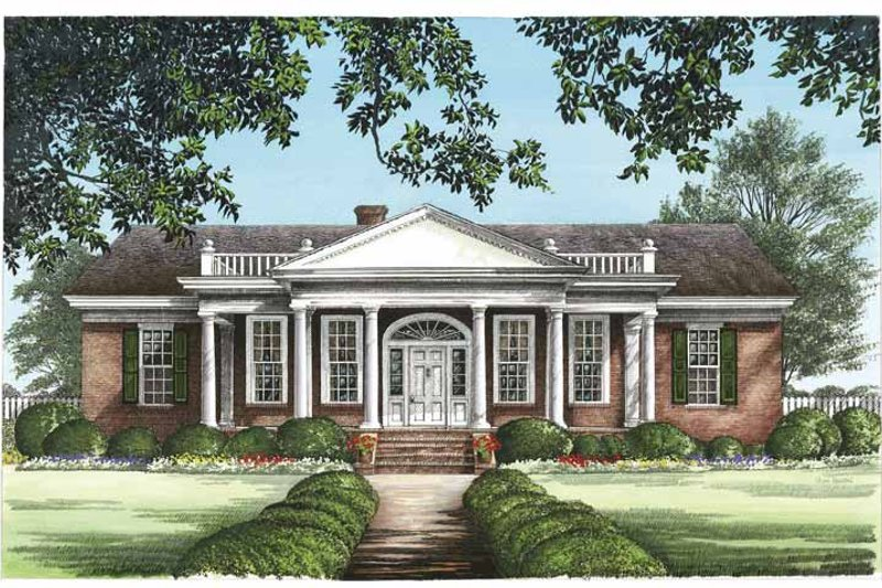 Classical Exterior - Front Elevation Plan #137-331