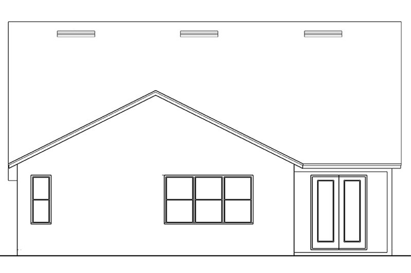 Country Exterior - Rear Elevation Plan #1058-135 - Houseplans.com