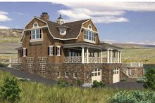 Colonial Exterior - Rear Elevation Plan #132-524