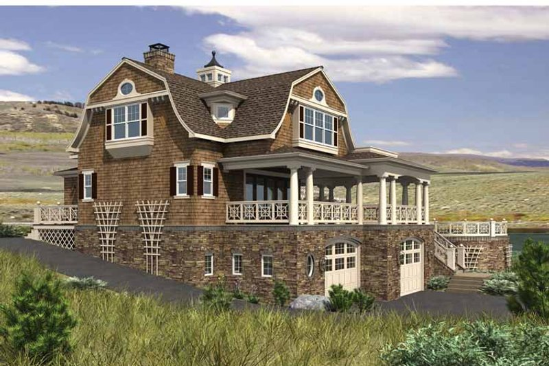 Colonial Exterior - Rear Elevation Plan #132-524 - Houseplans.com