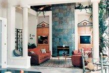 Architectural House Design - Mediterranean Interior - Family Room Plan #47-895