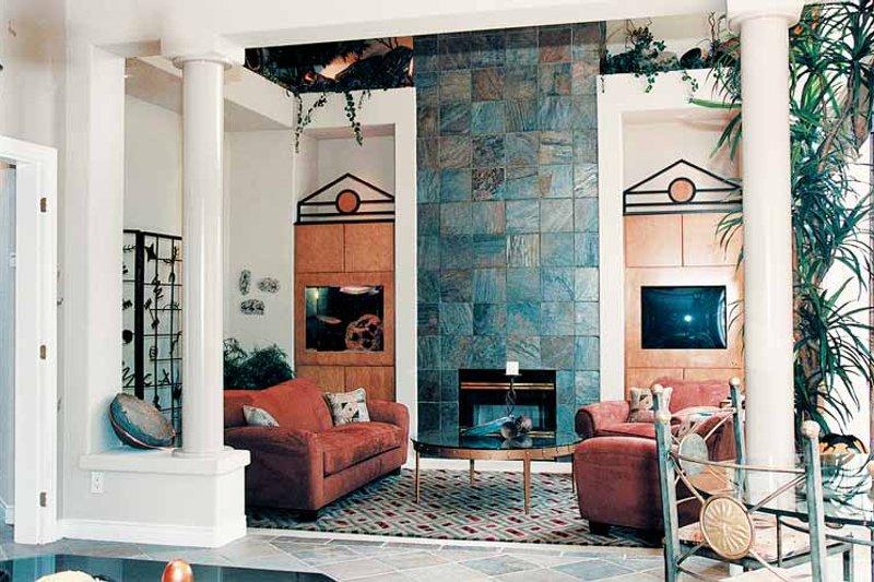 Mediterranean Interior - Family Room Plan #47-895 - Houseplans.com