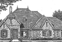 Home Plan - European Exterior - Front Elevation Plan #310-1268