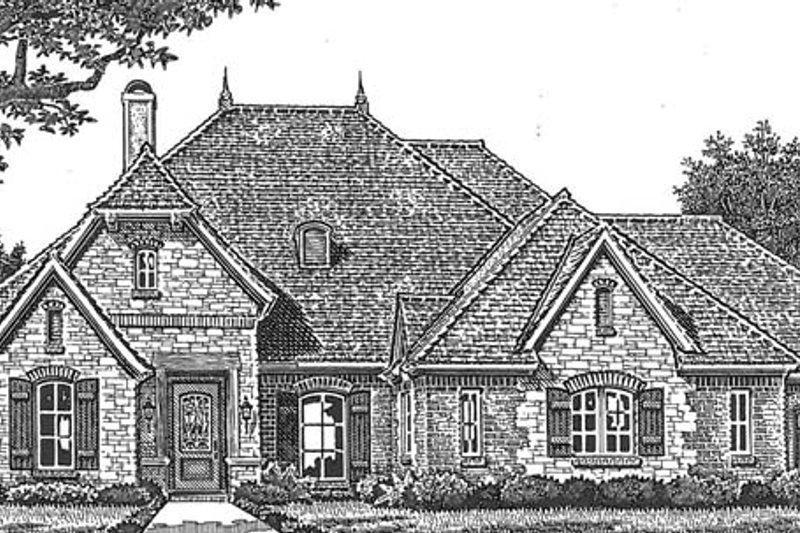European Exterior - Front Elevation Plan #310-1268 - Houseplans.com