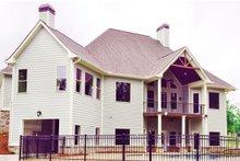 Dream House Plan - European Exterior - Rear Elevation Plan #437-58