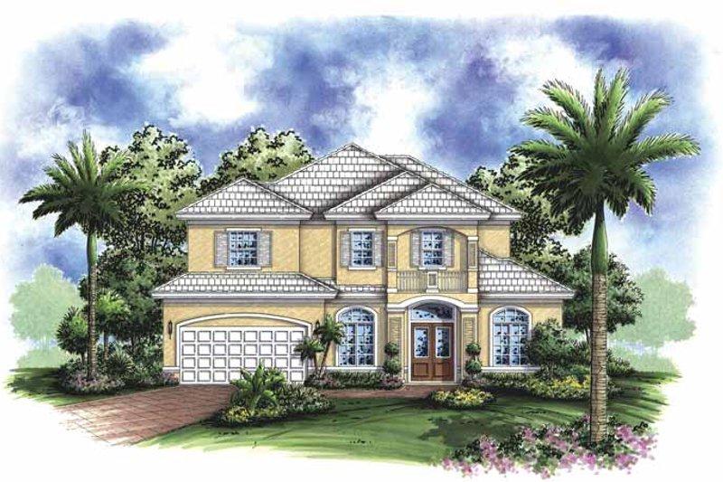 Dream House Plan - Mediterranean Exterior - Front Elevation Plan #1017-92