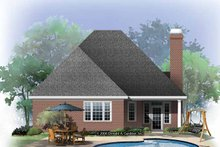 Dream House Plan - Ranch Exterior - Rear Elevation Plan #929-865