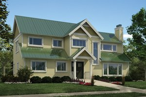 House Plan Design - Country Exterior - Front Elevation Plan #118-164