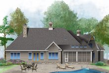 Dream House Plan - Country Exterior - Rear Elevation Plan #929-1006