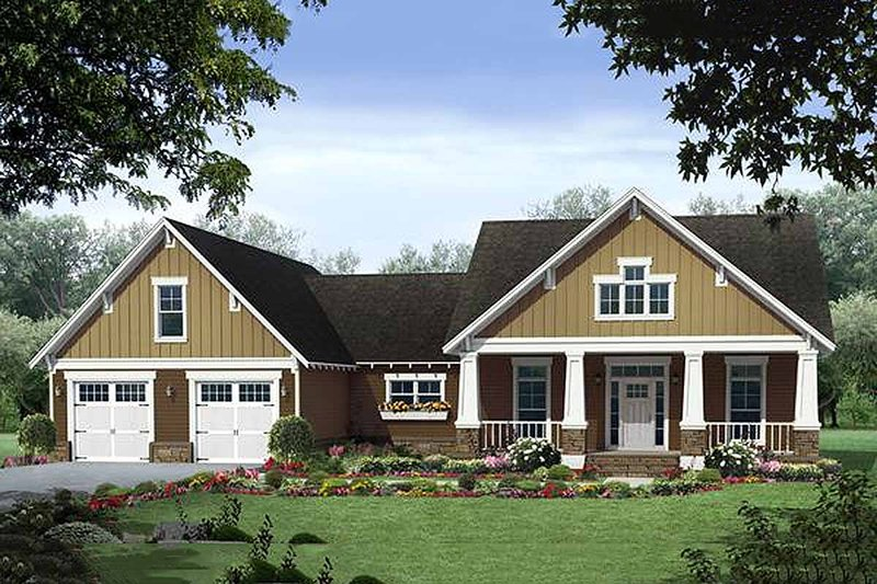 Home Plan - Craftsman style, Bungalow design, elevation