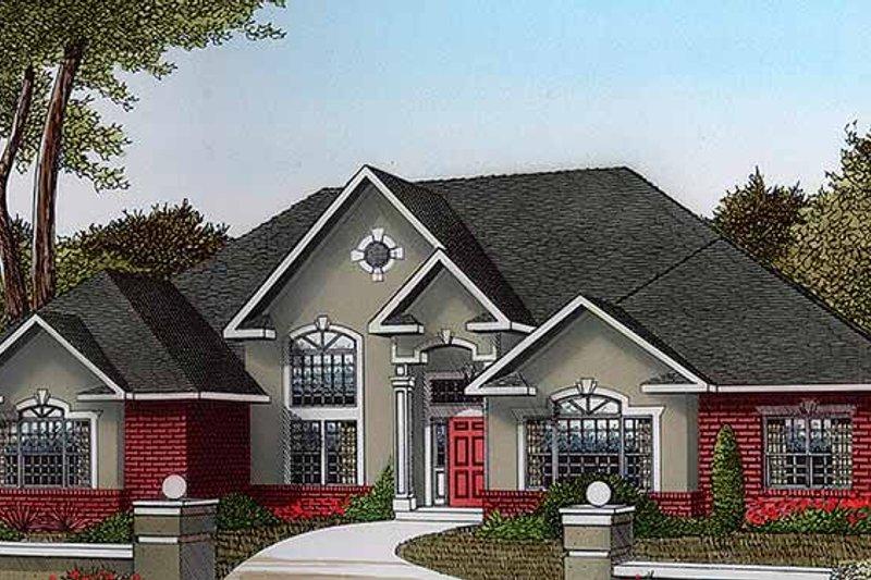 House Plan Design - Mediterranean Exterior - Front Elevation Plan #11-260
