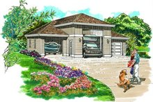 Traditional Exterior - Front Elevation Plan #47-505