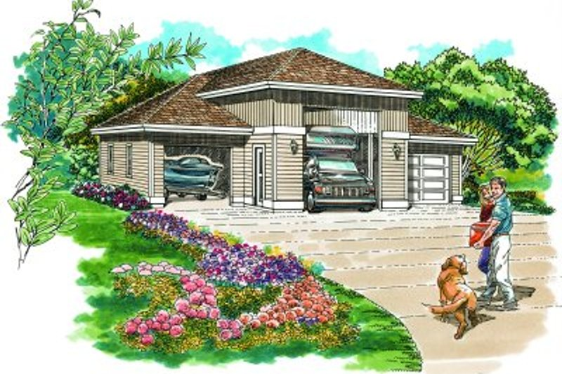 House Plan Design - Traditional Exterior - Front Elevation Plan #47-505