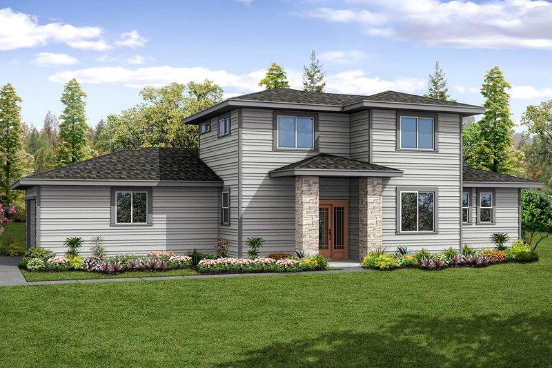 Prairie Exterior - Front Elevation Plan #124-1035