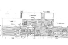 Dream House Plan - Classical Exterior - Rear Elevation Plan #3-295