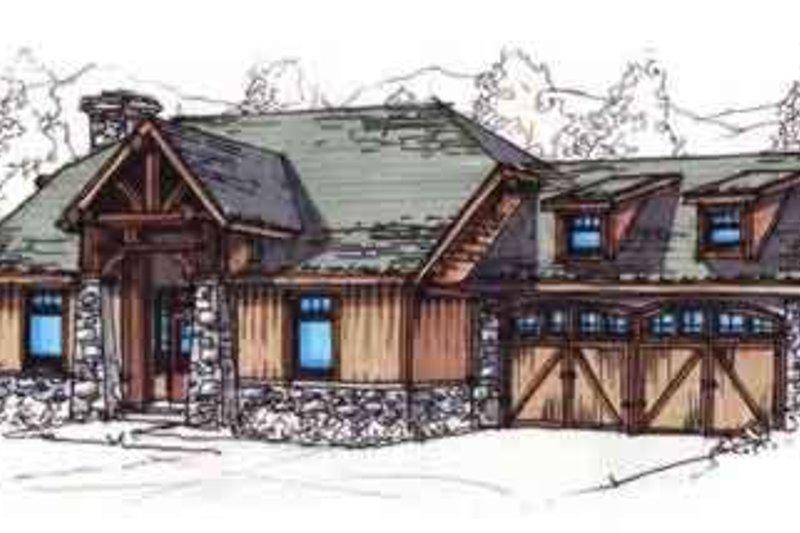 Craftsman Style House Plan - 3 Beds 2 Baths 1282 Sq/Ft Plan #17-2258