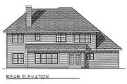 European Style House Plan - 4 Beds 2.5 Baths 2788 Sq/Ft Plan #70-444 Exterior - Rear Elevation