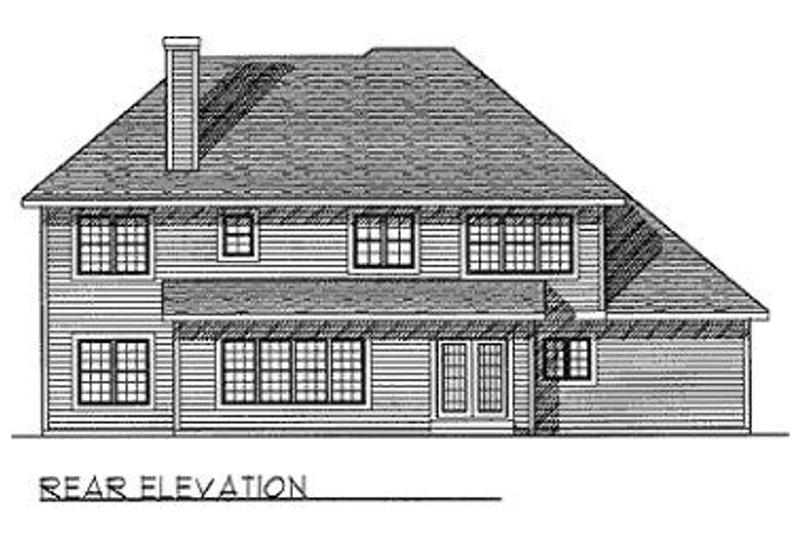 European Exterior - Rear Elevation Plan #70-444 - Houseplans.com