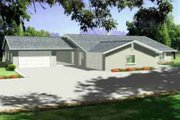 Mediterranean Style House Plan - 4 Beds 3.5 Baths 2920 Sq/Ft Plan #1-716 Exterior - Front Elevation