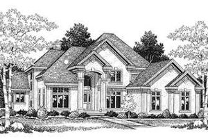 European Exterior - Front Elevation Plan #70-545