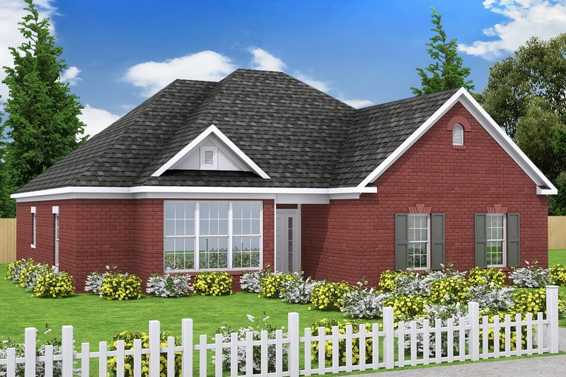 Traditional Exterior - Front Elevation Plan #20-334 - Houseplans.com