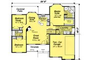 Ranch Style House Plan - 3 Beds 2 Baths 1511 Sq/Ft Plan #18-1057 Floor Plan - Main Floor Plan
