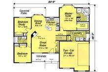 Ranch Floor Plan - Main Floor Plan Plan #18-1057